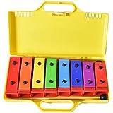 Ennbom サウンドブロック 鉄琴 8音 カラフル オルフ楽器 収納ケース付き ミニてっきん
