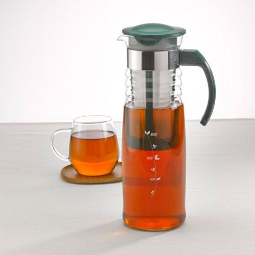 HARIO (ハリオ) かご網付き 水出し 茶 ポット 1,200ml ダークグリーン HCC-12DG