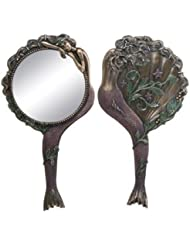 Art Nouveau Collectible Mermaid Hand Mirror Nymph Decoration by Summit