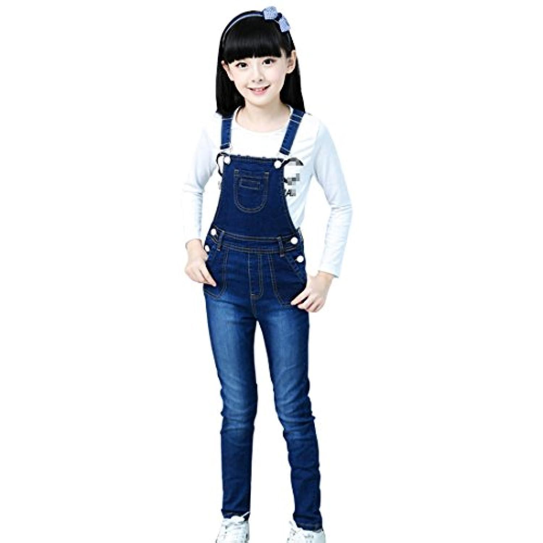 Full Nice(JP)子供 キッズ サロペット 女の子 デニムパンツ オーバーオール ジーンズ ロンパース
