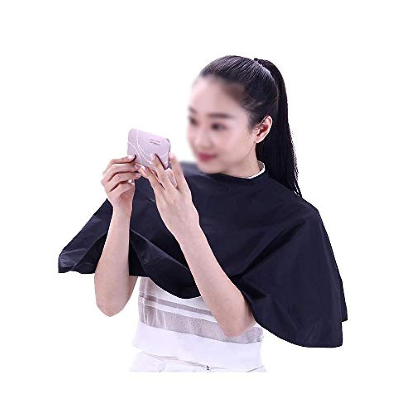 完璧な隠タイルヘアカットとヘアスタイリングサロンの美容師のヘアカットカラー用ラバーネックカバーガード、 モデリングツール (色 : 黒)