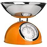 (Orange) - Premier Housewares 5 Kg Mechanical Kitchen Scale - Orange
