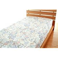 高密度 防ダニカバー ルネ ベッド用ボックスシーツ シングルサイズ (ブルー)
