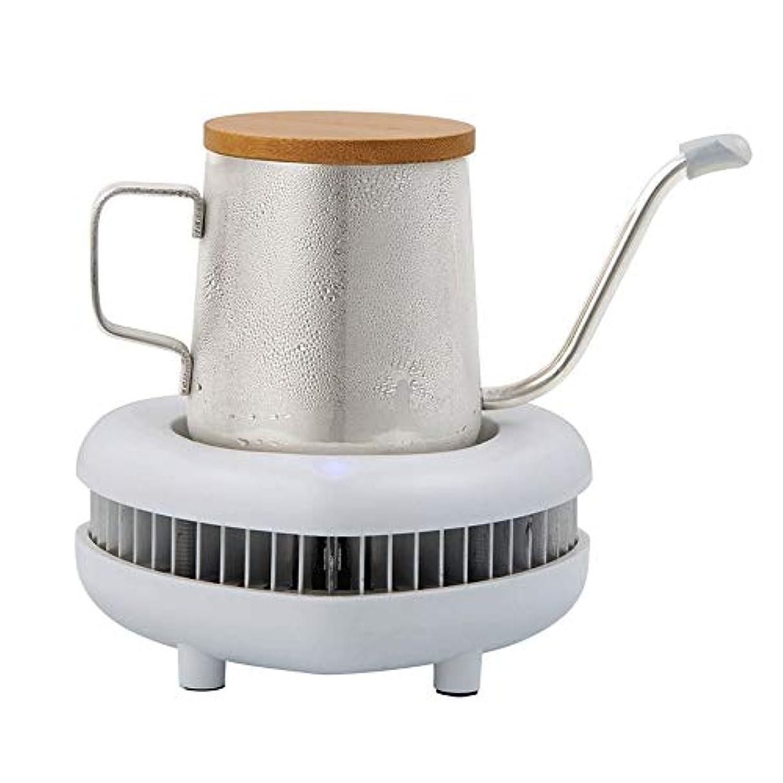 信条高音なにCHENALIFE アプリケーションビール飲料ジュースワインヨーグルトコーヒー用のマグカップポータブルミニデスクトップ冷蔵庫の冷却カップ暖房水カップスマートドリンククーラーカップエレクトリック冷却インスタントクイック (Color : 白)