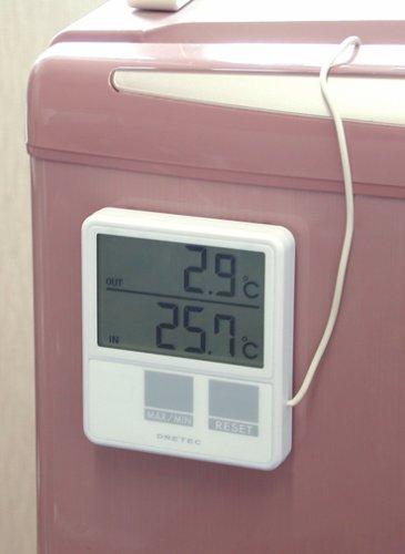 ドリテック 室内・室外温度計 ホワイト O-215WT