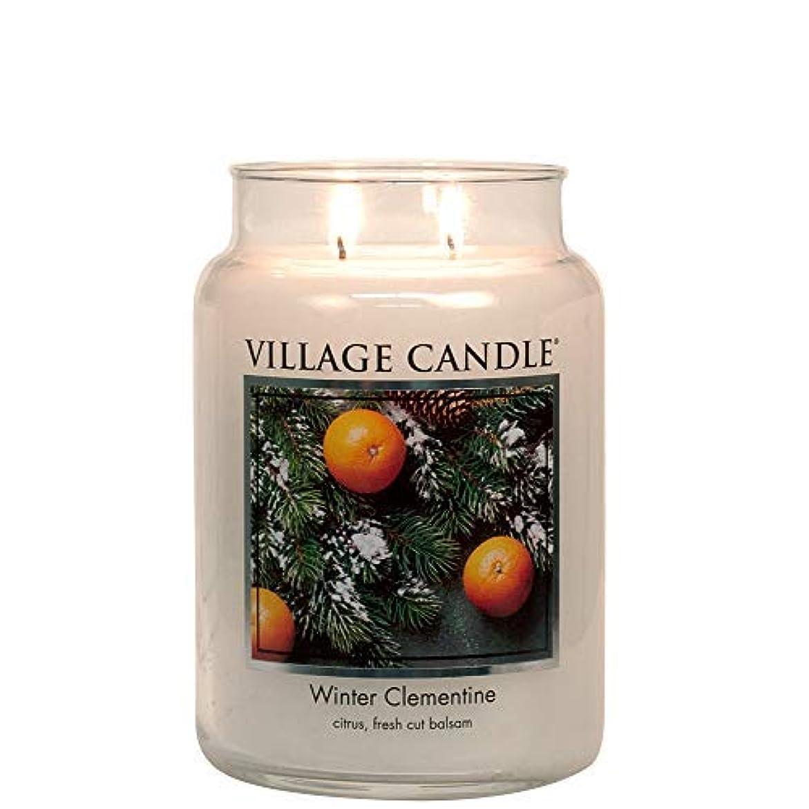 殺人したい慢なVillage Candle Winter Clementine 26 oz Glass Jar Scented Candle Large [並行輸入品]