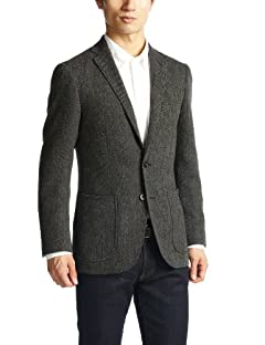 Green Label Relaxing Winter Hopsack 2-button Jacket 3122-186-0282: Grey