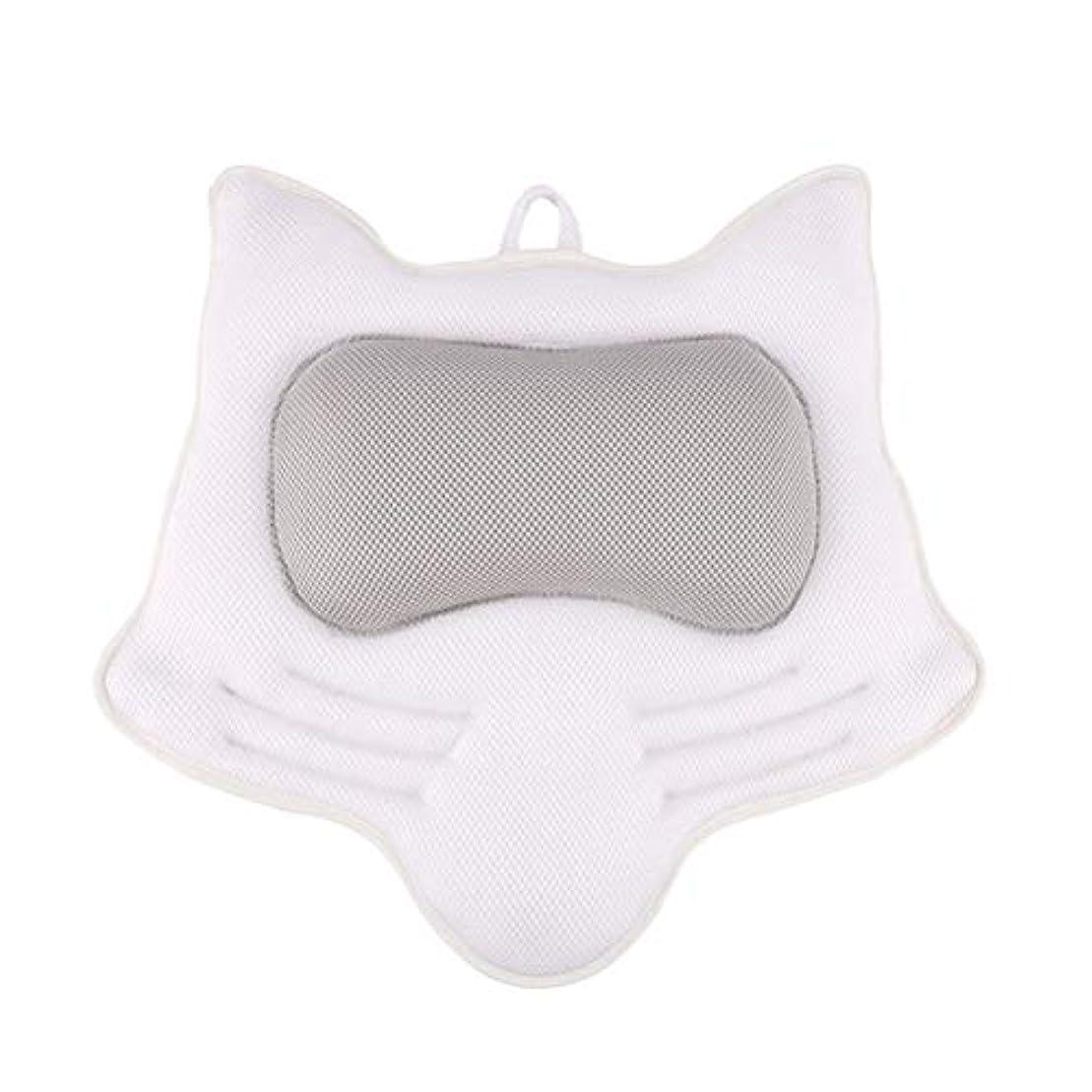 縁流用する着替えるSUPVOX お風呂まくら バスピロー 滑り止め付 バスタブ 人気 肩こり 熟睡 浴用品 ネックサポートサクションカップ ホワイト
