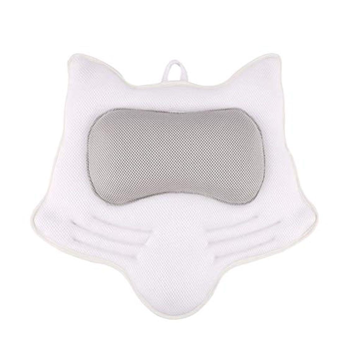 湿度衛星誕生日SUPVOX お風呂まくら バスピロー 滑り止め付 バスタブ 人気 肩こり 熟睡 浴用品 ネックサポートサクションカップ ホワイト
