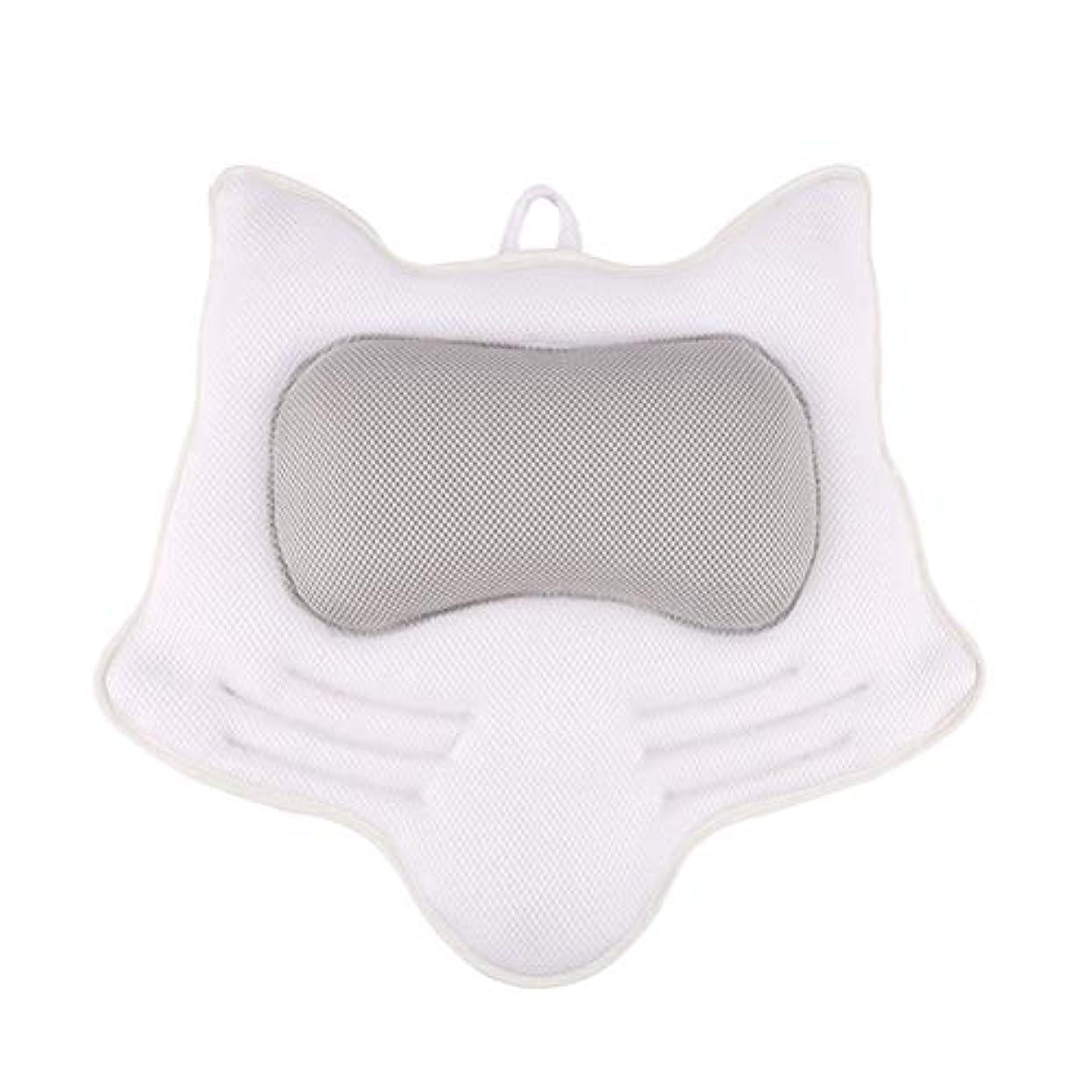 ケント歯科の場合SUPVOX お風呂まくら バスピロー 滑り止め付 バスタブ 人気 肩こり 熟睡 浴用品 ネックサポートサクションカップ ホワイト
