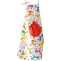 LHY- Apron Parent-Child apron Anti-fouling Cotton Canvas apron Kitchen Baking Children's bib Convenience (Size : Child)