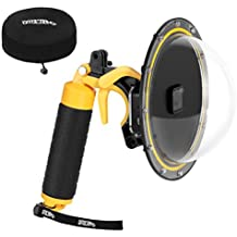 YOEMELY Dome Port for GoPro Hero 7 Hero 5 Hero 6 Hero 2018 Underwater Dome Lenses with Waterproof Housing and Floating Hand Grip