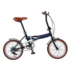 Rover(ローバー) FDB160 ブルー 16インチ小型コンパクト折りたたみ自転車 クラシック調バイク 18216-0399