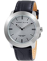 [ペリー・エリス]Perry Ellis 腕時計 SLIM LINE(スリム・ライン) クォーツ 42 mmケース 本革バンド 07013-01 メンズ 【正規輸入品】