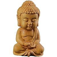 ミニ型 ツゲの木彫り 如来 仏教の開祖 釈迦 木製彫刻 高さ7cm Devou