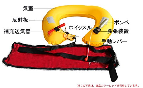 ライフジャケットベルト(手動膨張)迷彩柄(白)