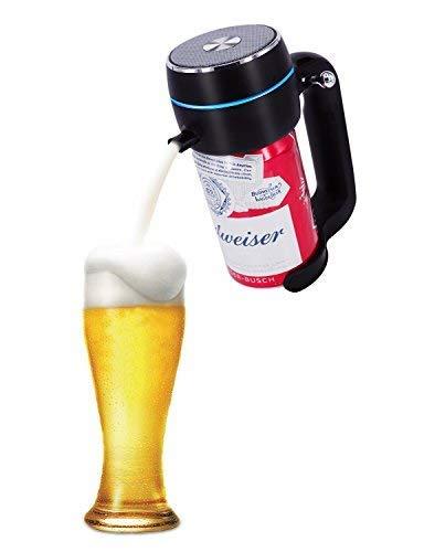 ENERG 超音波式ハンディビールサーバー 泡立て 缶ビール用 ジョッキタイプ 極細泡 クリーミー泡 バッテリ付き 父にプレゼント 景品 ピクニック お祝い パーティーに最適T19-ENBR(ブラック)