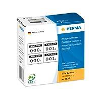Herma 4837エンクロージャー番号重複形の自己接着性15 x 22 mm印象黒印刷