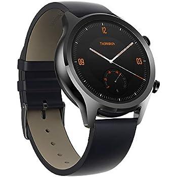 7d55d31d0b TicWatch スマートウォッチ GPS Wear OS by Google 多機能 ios&Android対応 IP68防汗/防水 日本語対応  型番C2 ブラック