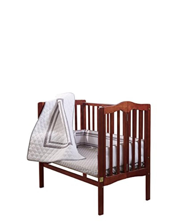 ベビードール寝具ソーホーミニベビーベッド/ポート-ベビーベッド寝具セット、グレー