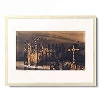 ヴィクトル・ユーゴー Victor-Marie Hugo 「Le Burg a la croix」 額装アート作品
