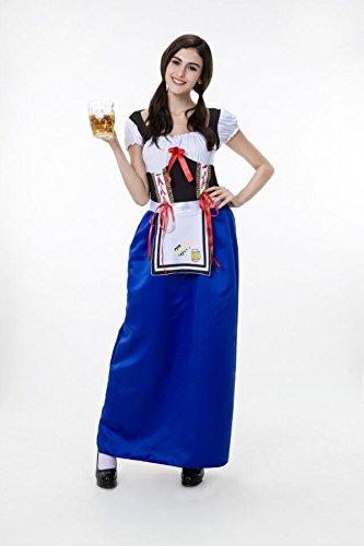 Halloween 高品質 ハロウィン 仮装 衣装 コスプレ コスチューム♪ビールガール ドイツ 民族衣装 メイド ディアンドル チロリアン イベント 演出服 (XL)