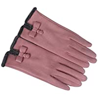 WUXiaodanDan Women's simple touch screen gloves thick warm gloves outdoor riding gloves
