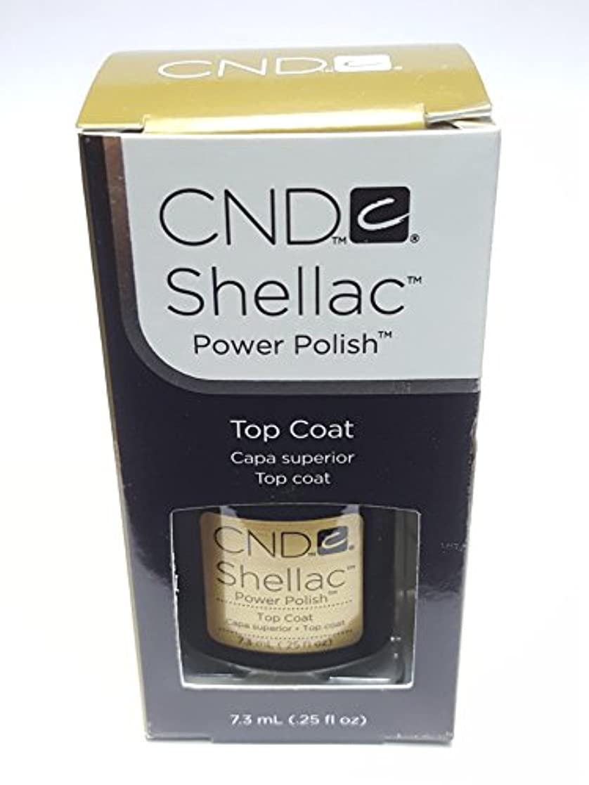 定期的に予防接種有彩色のCND シーエヌディー shellac シェラック パワーポリッシュ UVトップコート 7.3ml 炭酸泉タブレット1個付き