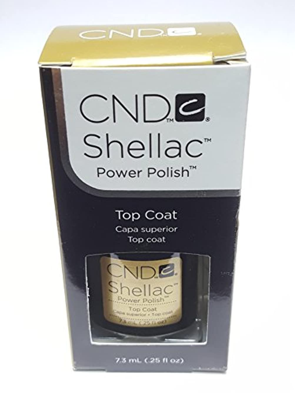 ショルダー変なアフリカCND シーエヌディー shellac シェラック パワーポリッシュ UVトップコート 7.3ml 炭酸泉タブレット1個付き