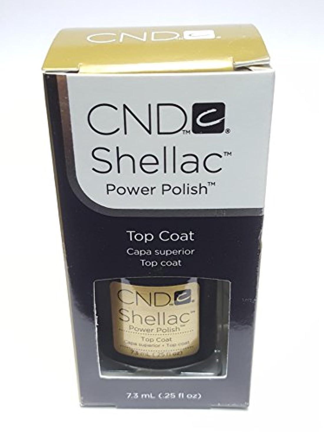 ポジティブ参加者ロイヤリティCND シーエヌディー shellac シェラック パワーポリッシュ UVトップコート 7.3ml 炭酸泉タブレット1個付き