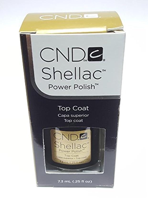 ブラザー嫌がらせ野なCND シーエヌディー shellac シェラック パワーポリッシュ UVトップコート 7.3ml 炭酸泉タブレット1個付き