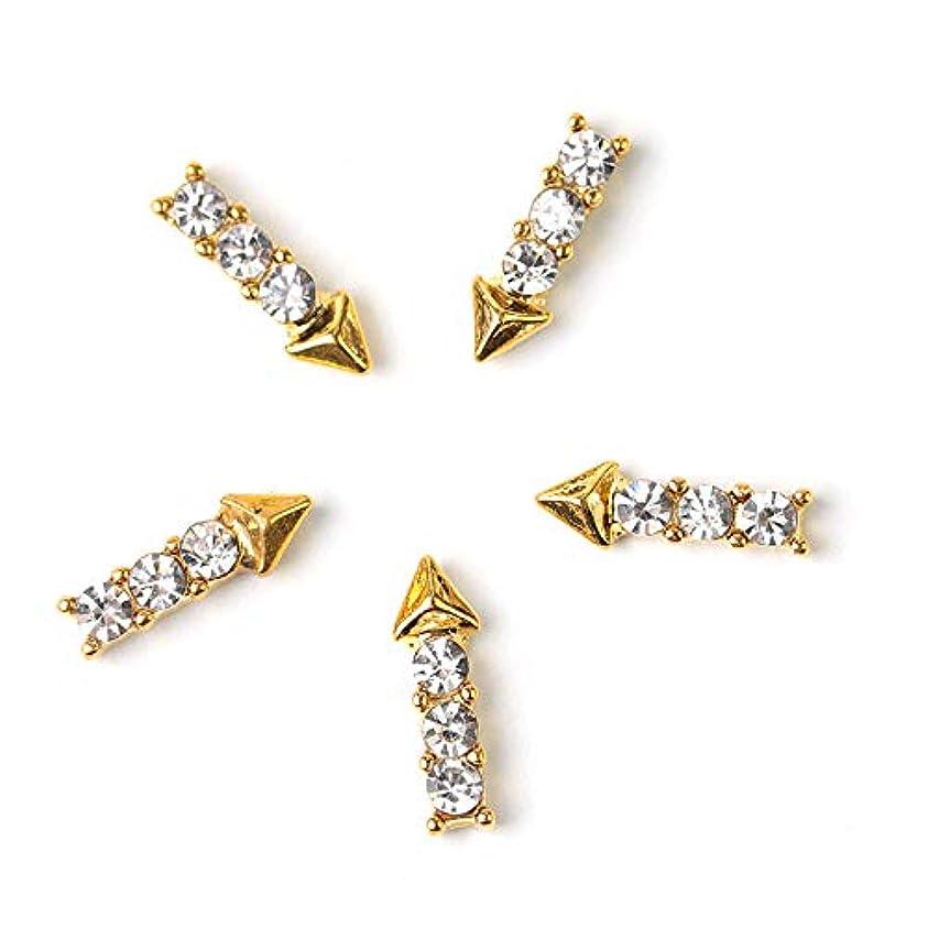 クロス溢れんばかりの労働者ネイルアートの装飾デザインの魅力のための10枚DIY 3Dムーン宝石ラインストーン合金マニキュアのジュエリーアクセサリー