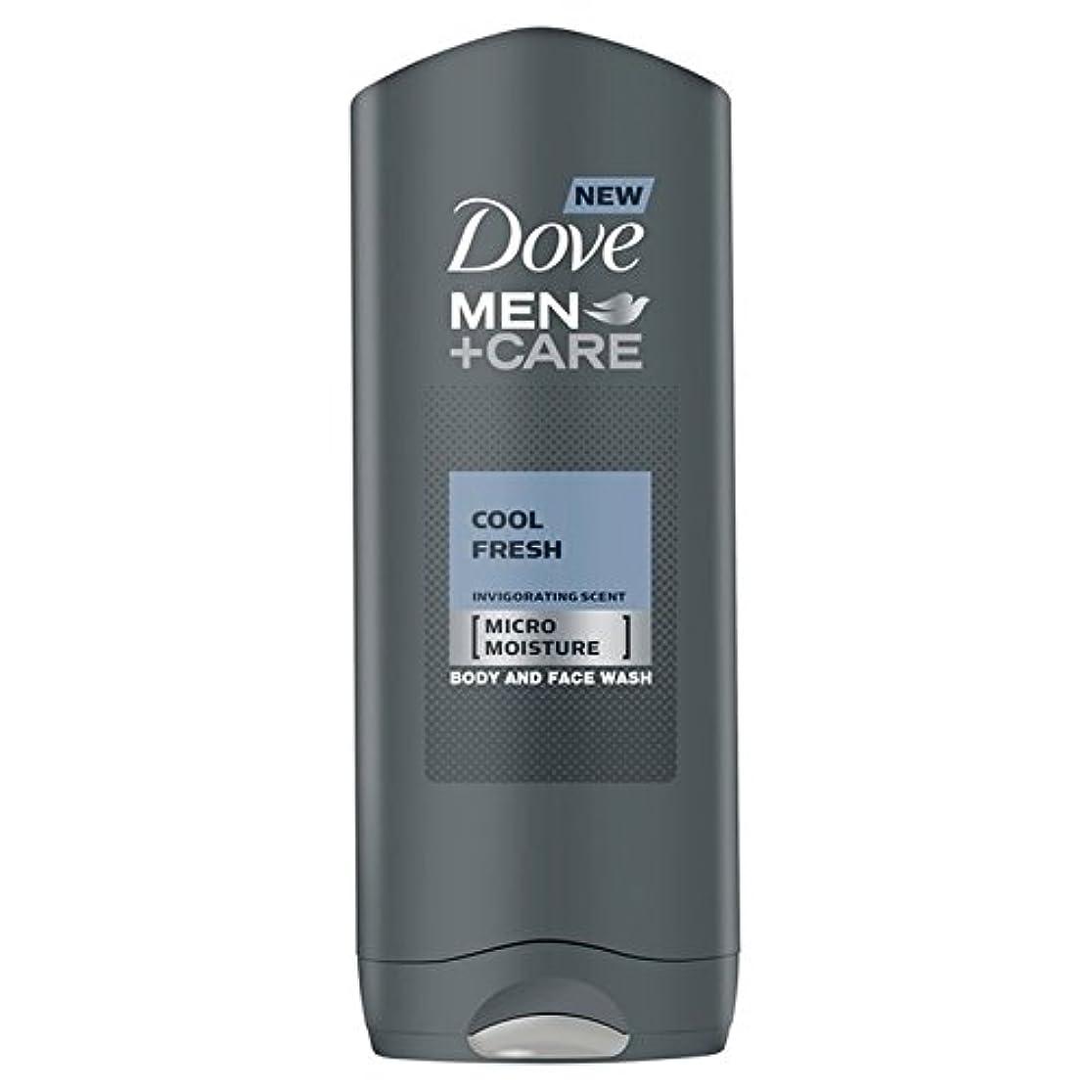 Dove Men+Care Cool Fresh Shower Gel 400ml - クールフレッシュシャワージェル400ミリリットルケア+鳩の男性 [並行輸入品]