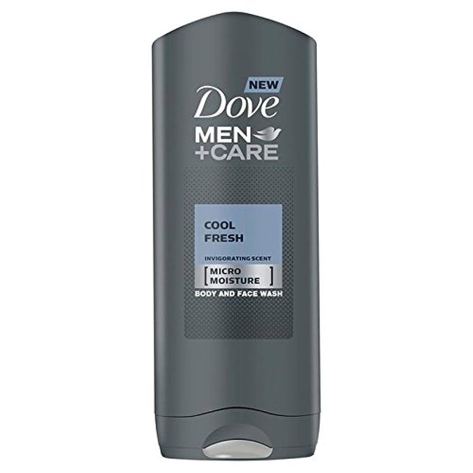 クスクスサミット人種Dove Men+Care Cool Fresh Shower Gel 400ml - クールフレッシュシャワージェル400ミリリットルケア+鳩の男性 [並行輸入品]