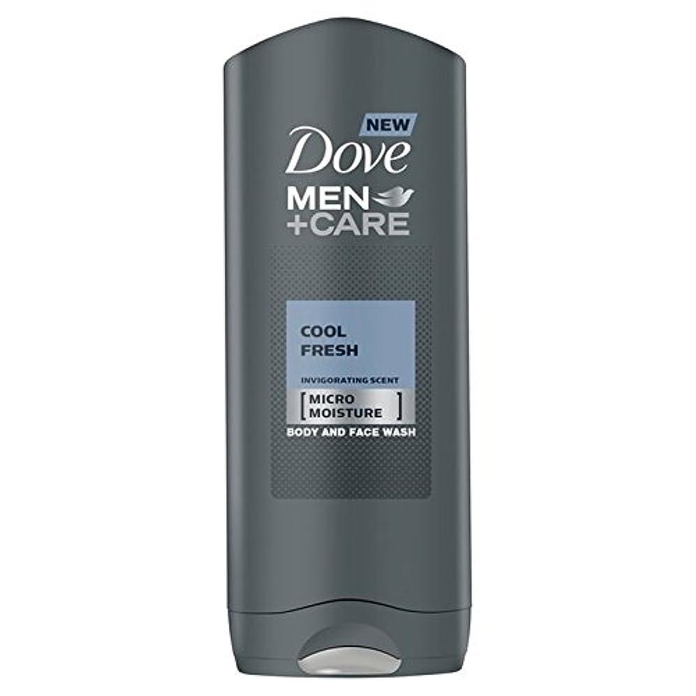 噴水生きるインタラクションDove Men+Care Cool Fresh Shower Gel 400ml - クールフレッシュシャワージェル400ミリリットルケア+鳩の男性 [並行輸入品]