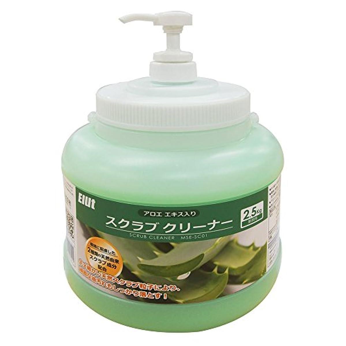 蚊トランスペアレント靄業務用 ハンドクリーナー スクラブ アロエエキス入り 2.5kg 油汚れ MSE-SC01 Elut エルト