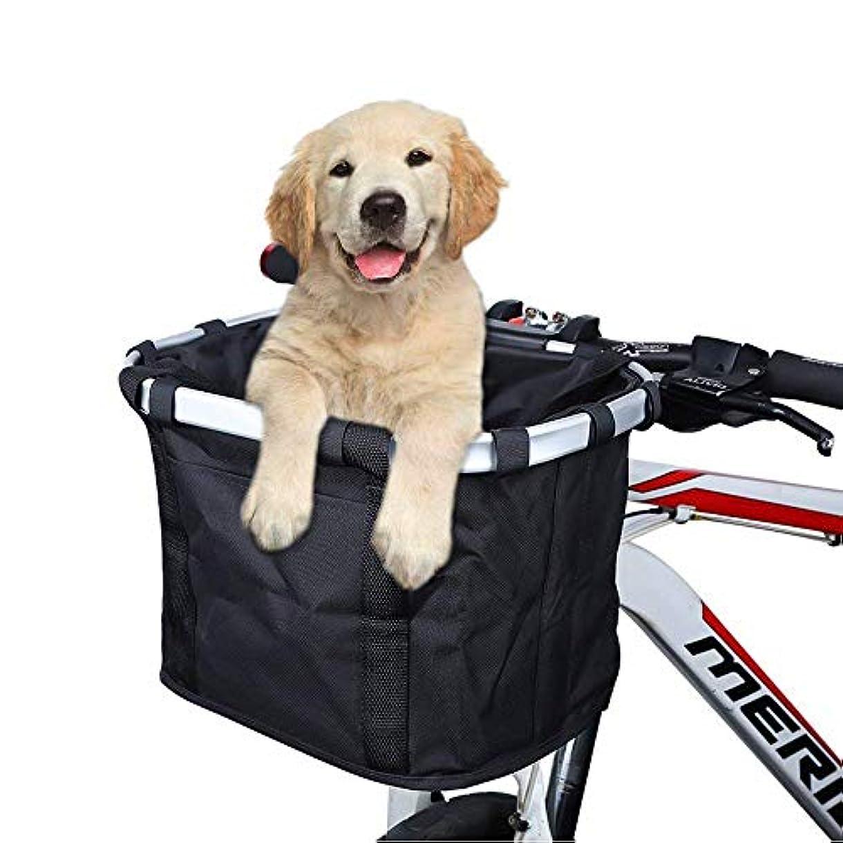 旅行医師症候群ANZOME 自転車かご 自転車カゴ 自転車バスケット折り畳み式 脱着簡単 巾着式 大容量 耐水性 ペット用 犬用 お買物用 折り畳み自転車用 商品説明書付き