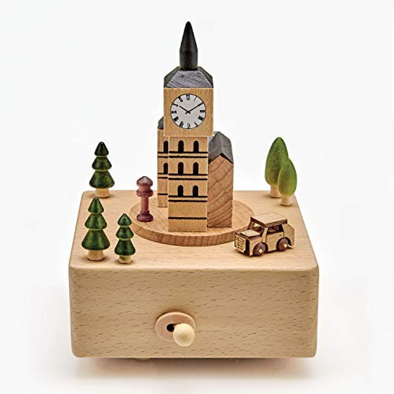 ART & ARTIFACT 木製ビッグベン オルゴール - ゴッド?セイヴ?ザ?クイーン ウィンドアップ ブナウウッド ロンドン イングランド コレクターズアイテム。