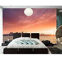Mingld カスタム防水壁紙、海岸住宅都市壁紙コーヒーショップリビングルームソファテレビ壁寝室壁紙-250X175Cm