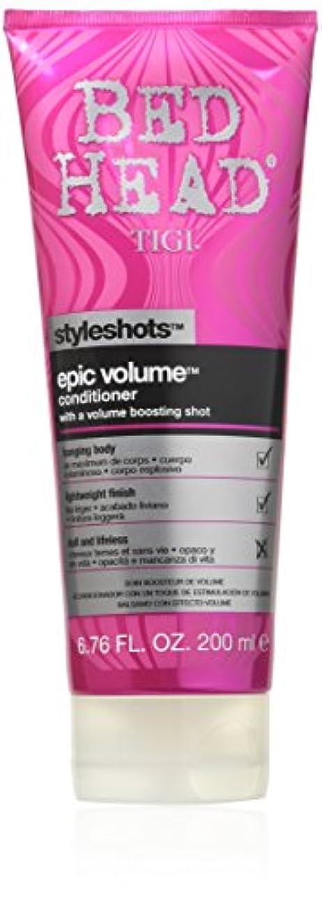 静かに苛性分析するTigi Bed Head Styleshots Epic Volume Conditioner 200 ml (並行輸入品)
