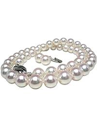 イソワパール オーロラ?花珠 アコヤ真珠 8.0-8.5mm ネックレス イヤリング セット 8.0-8.5mm ホワイト系 グッドクオリティ pearl 885e