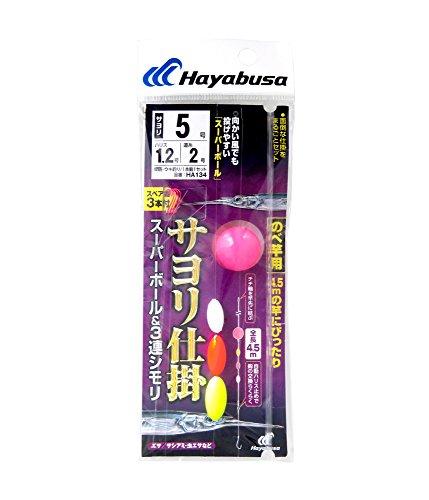ハヤブサ(Hayabusa) サヨリ仕掛 スーパーボール&3連シモリ(のべ竿用) 5-1.2 HA134