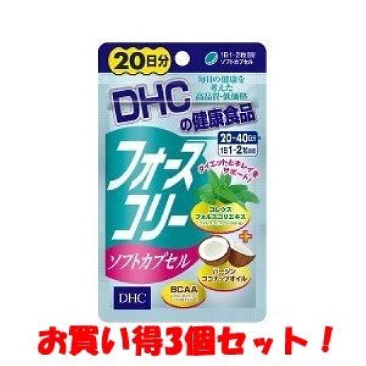 組み合わせるコインちょうつがい(2017年春の新商品)DHC フォースコリー ソフトカプセル 20日分 40粒(お買い得3個セット)