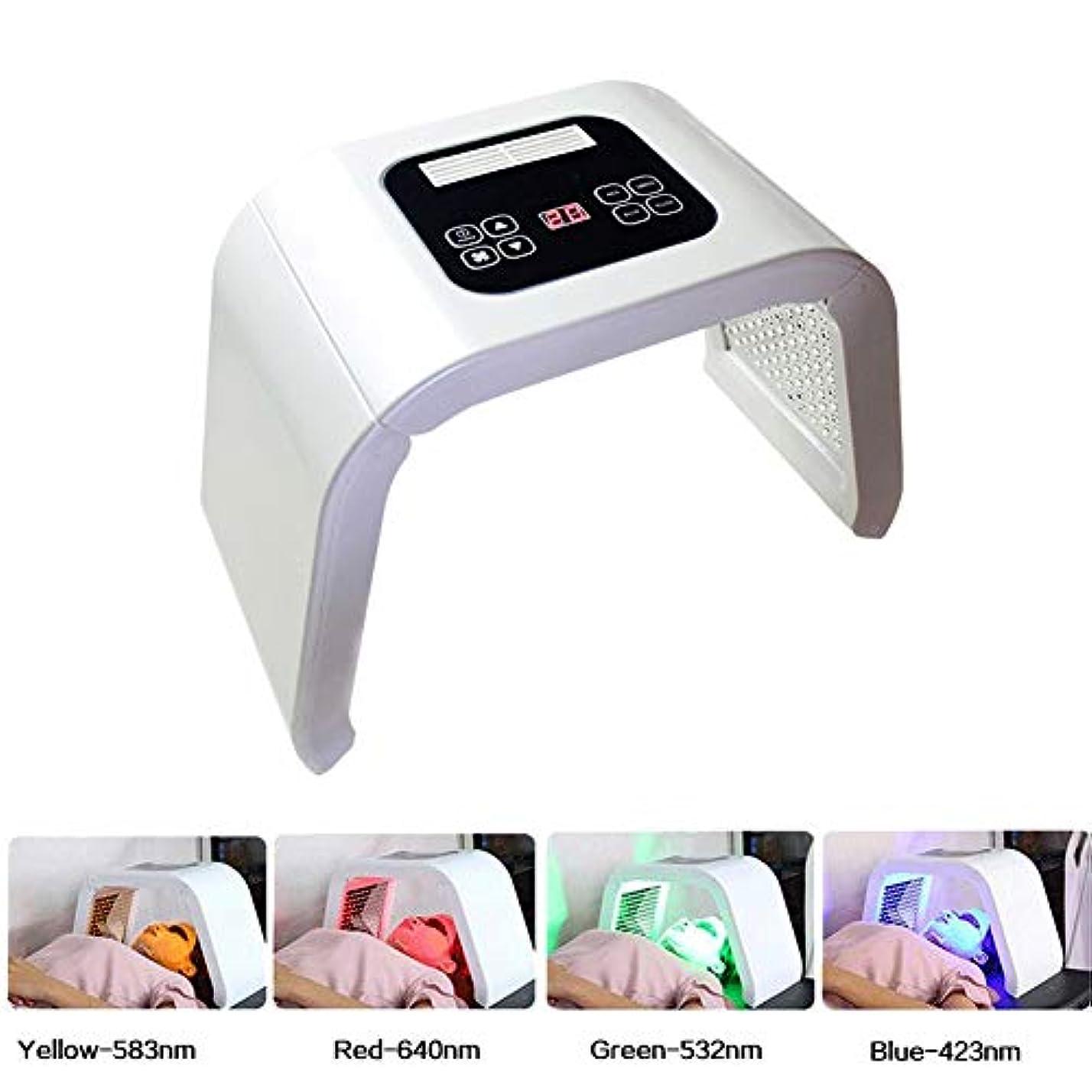 識別する感動するオーバーフロー美容機、7色LEDライトマスクポータブルフォトンPDTにきび治療しわ除去アンチエイジング肌の若返りフェイシャルケア