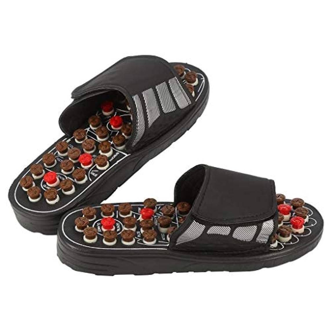 ワイヤー捨てるバック磁気マッサージインソール、指圧靴マッサージ効果インソール健康足医療援助足リフレクソロジーは、血液循環疲労を促進します (Color : 黒, Size : 40-41)