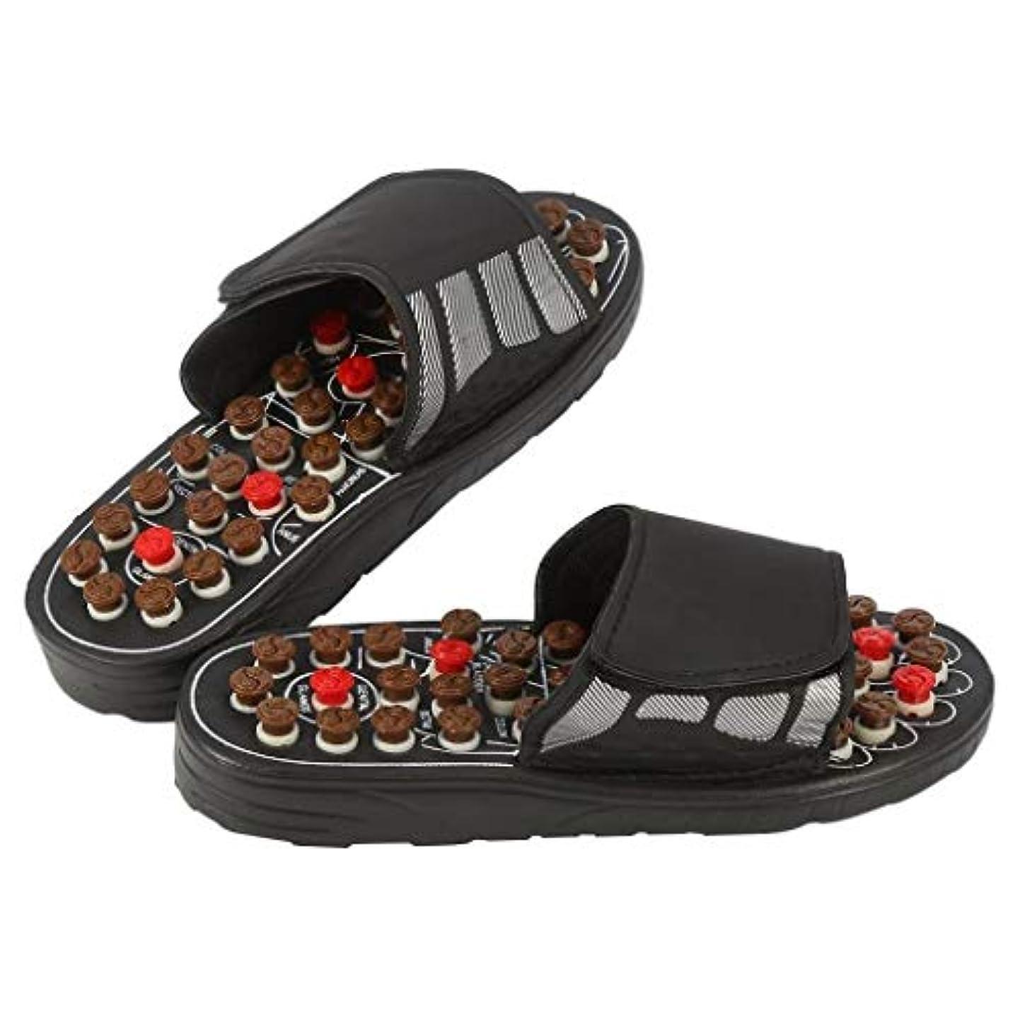 スキッパー松女将磁気マッサージインソール、指圧靴マッサージ効果インソール健康足医療援助足リフレクソロジーは、血液循環疲労を促進します (Color : 黒, Size : 40-41)
