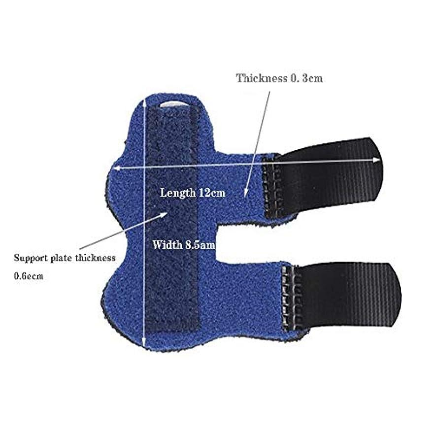 酸度リボン和らげる痛みのための親指スピカサポートブレース - フィンガースプリント、リバーシブル親指スタビライザー、関節炎サムスプリント (Color : 青)