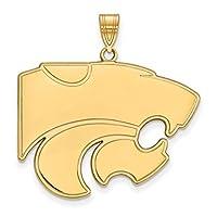 Kansas State Extra Large ( 1インチ)ペンダント( 14Kイエローゴールド)