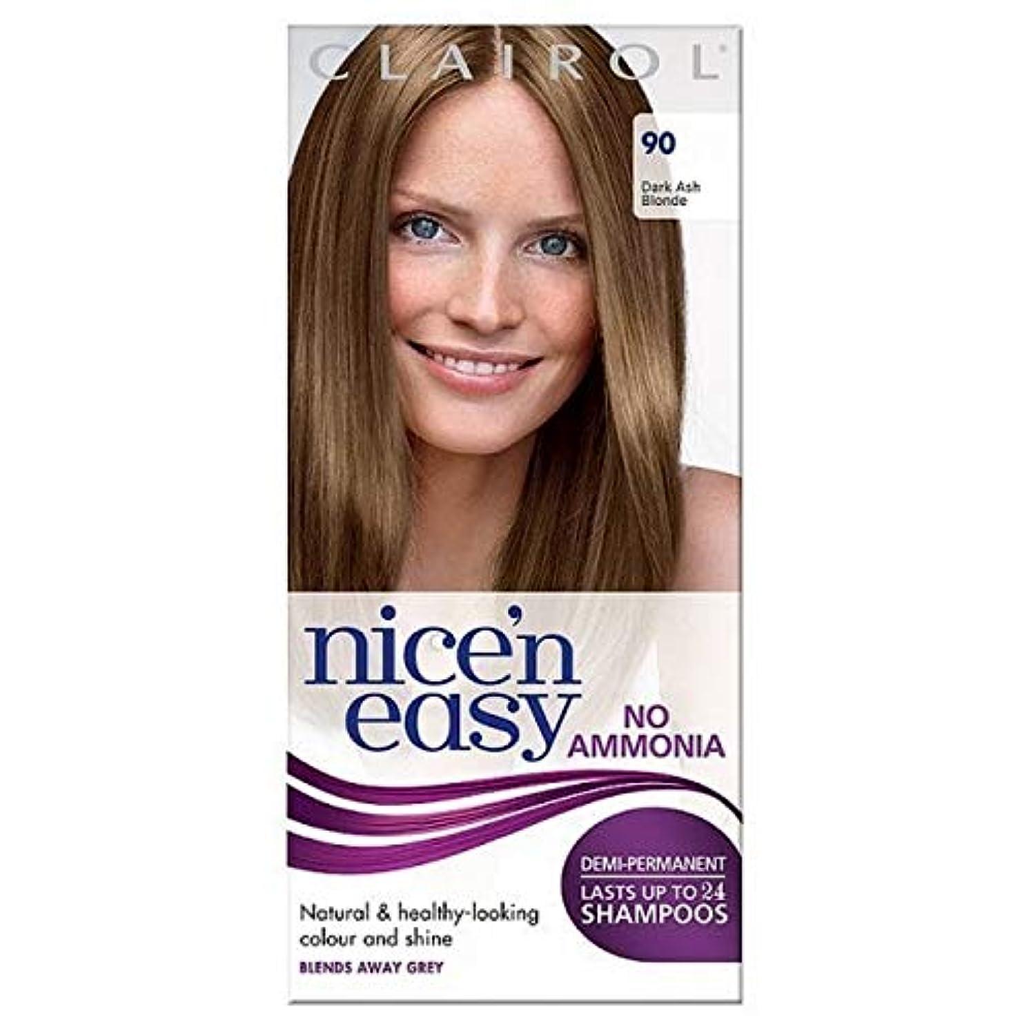 偏差満州エミュレーション[Nice'n Easy] Nice'N簡単に無アンモニア毛染め暗い灰ブロンド90 - Nice'n Easy No Ammonia Hair Dye Dark Ash Blonde 90 [並行輸入品]