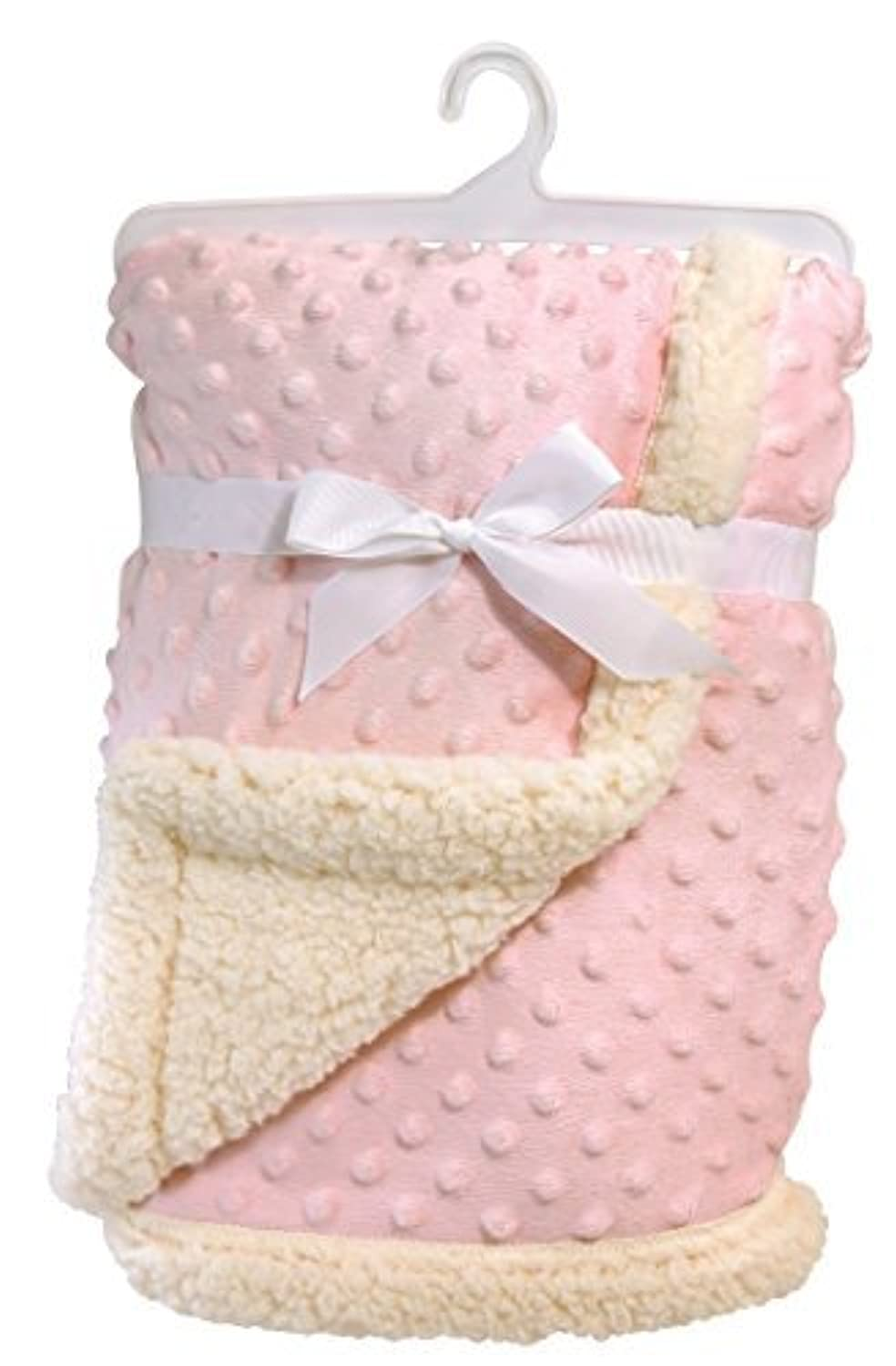 Stephan Baby Super-Soft Reversible Velour Plush or Sherpa Bumpy Blanket, Pink by Stephan Baby [並行輸入品]